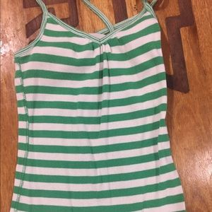 Criss cross spaghetti strap tank top